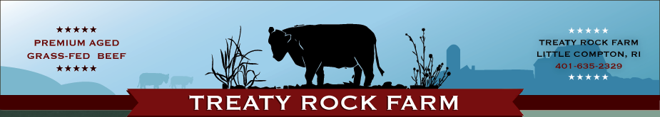 Treaty Rock Farm, Premium Aged, Grass-Fed Beef located in Little Compton, RI